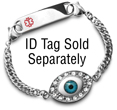 Teens and Kids Medical Bracelet with ID tag