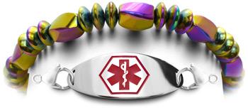 Hematite Medical Bracelet