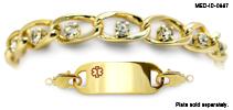 WaterWear® Medical ID Bracelet 0987 Belli Diamonti Oro, Medical Bracelets