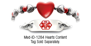 Heart Disease Awareness Medical Id Bracelet