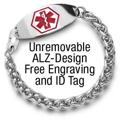Unremovable ALZ-Design Free Engraving and ID Tag