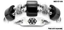 Medical ID Bracelet 1358 Cats Eye Mystique Rich Black, Medical Bracelets
