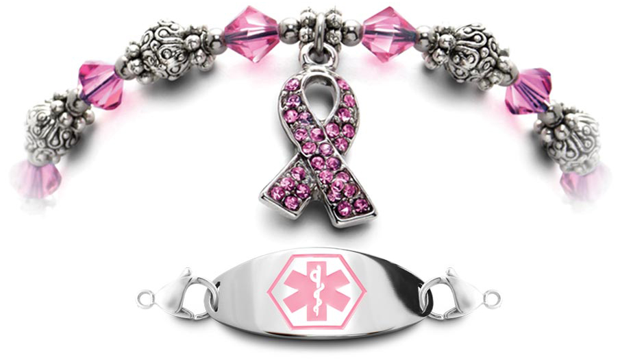 Pink Crystal Medical Bracelet