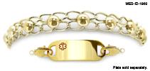 WaterWear® Medical ID Bracelet 1963 Cerchi de Oro, Medical Bracelets