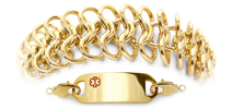 Medical ID Bracelet 2018 Oro Tessuto, Medical Bracelets