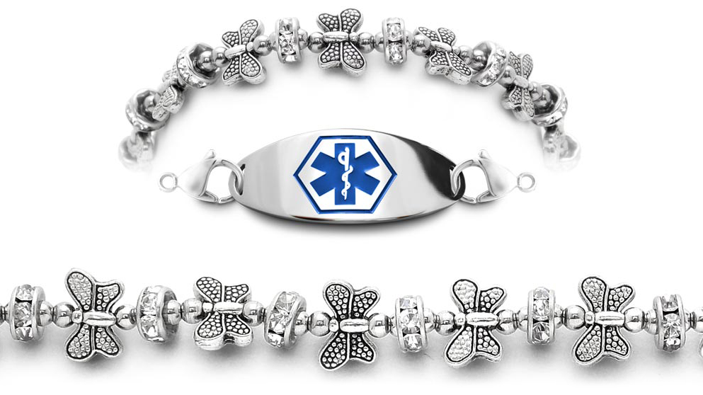 Butterfly Design Medical Braclet