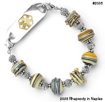 Medical ID bracelet 2035 Rhapsody in Naples, Medical Bracelets