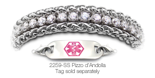 2259 Diamond Medical Bracelet