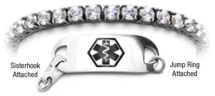 Diamond ALZ medical bracelet