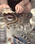 Making Beaded Bracelet