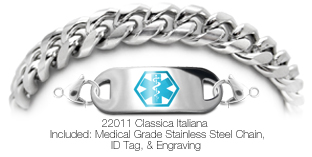 22011 Stainless Medical Bracelet