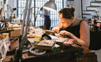 Girl making Bracelets