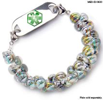 Medical ID Bracelet 0830 Tiger in the Grass, Medical Bracelets