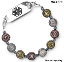 Medical ID Bracelet 1410 Desert Flowers 2, Medical Bracelet