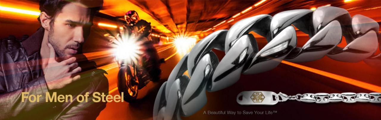 Men of Steel: Shop at men's bracelets