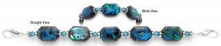 Designer Bead Medical Bracelets Oceans of Blue 0825
