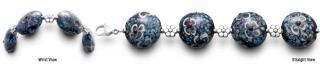 Designer Bead Medical ID Bracelets FleurBleue 0844