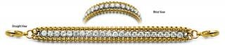 Diamond Gold and Stainless Medical ID Bracelet Dolcetti D'oro 0878