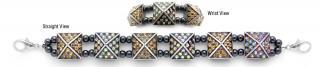 Designer Bead Medical Bracelets Celestial Pyramids I 1156