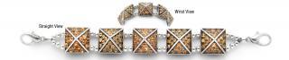 Designer Rhinestone Medical Bracelets Celestial Pyramids 3 1185