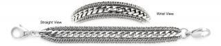 Designer Stainless Medical ID Bracelets Potente Delicato 1237