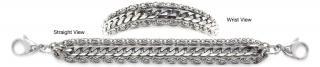 Designer Stainless Medical Bracelets Massimo Delicato 1239