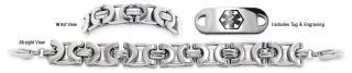 Designer Stainless Medical Bracelet Set Un Prezzo Roma 21740