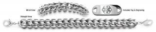 Designer Stainless Medical Bracelet Set Anelli di Acciaio 22004