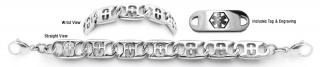 Designer Stainless Medical Bracelet Set San Michele 22010