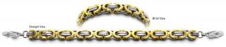 Designer Gold & Stainless Medical Bracelets Monte Rosa 2293