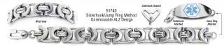 ALZ Unremovable Medical ID Bracelet Set Suzzara 51740