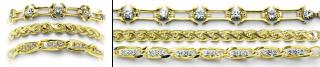 Designer Gold Medical Bracelet Set Golderado 2029