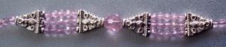 Designer Bead Medical Bracelets Shimmering Pink 3769