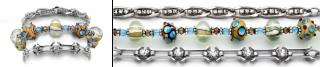 Designer Medical ID Bracelet Set Warm and Funky 0777-S