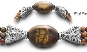 Designer Bead Medical Bracelets Tigers Eye 0108