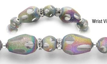 Designer Bead Medical Bracelets Shimmering Rainbows 0296
