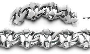Designer Stainless Medical Bracelets Forte Tessuto 0356