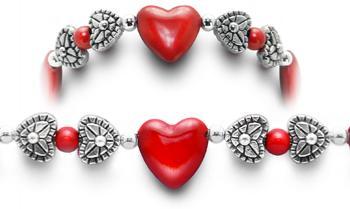 Designer Bead Medical Bracelets Hearts Content II 0409