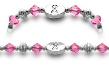 Designer Bead Medical ID Bracelets Pink Power 0487