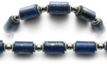 Designer Bead Medical Bracelets Blue Pegs 0519