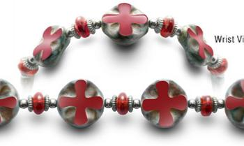 Designer Bead Medical Bracelets Cross Road 0524