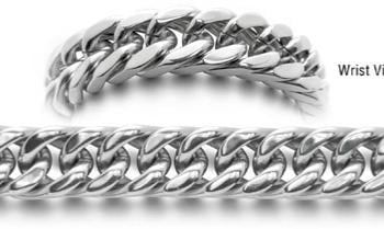 Designer Stainless Medical Bracelets Uomo Robusto 0557