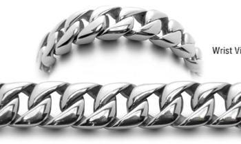 Designer Stainless Medical Bracelets Acciaio Lucido 0585