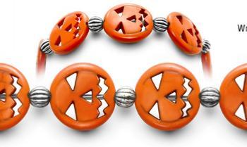 Designer Bead Medical ID Bracelets Scary Face 0645