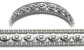 3-Strand Stainless Medical Bracelet Sofisticato 0647