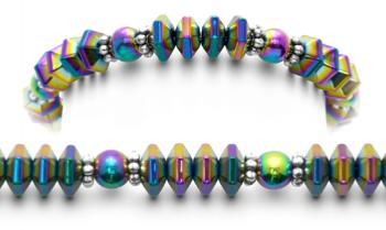 Designer Bead Medical ID Bracelets Rainbow Girl 0717