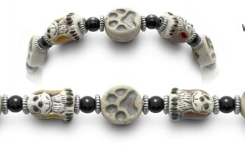 Designer Bead Medical ID Bracelets Puppy Paws 0726