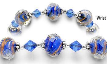 Designer Bead Medical Bracelets Sizzle Six 0786