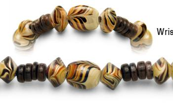 Designer Bead Medical Bracelets Cafe au Lait 0793