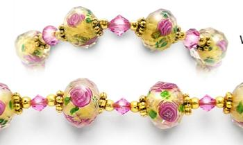 Designer Bead Medical Bracelets Hope Springs Pink 0881